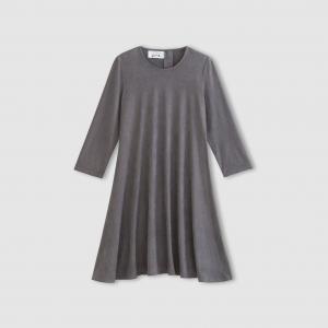 Платье расклешенное с рукавами 3/4 ENJOYPHOENIX POUR LA REDOUTE. Цвет: серый