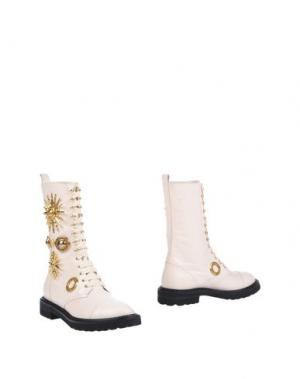 Полусапоги и высокие ботинки FAUSTO PUGLISI. Цвет: белый