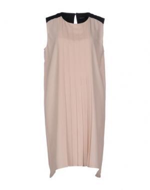 Короткое платье FABRIZIO LENZI. Цвет: бежевый