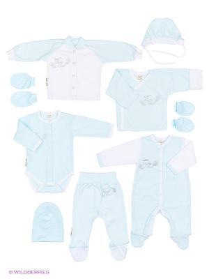 Подарочный набор Ангелочки Lucky Child. Цвет: голубой
