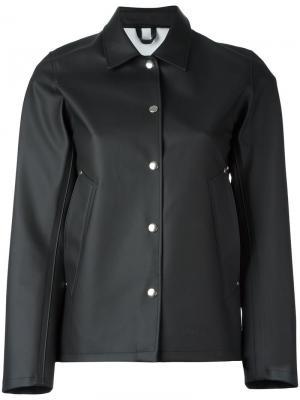 Куртка на кнопках Stutterheim. Цвет: чёрный