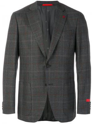 Checked classic blazer Isaia. Цвет: серый