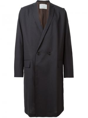 Двубортное пальто Kolor. Цвет: серый