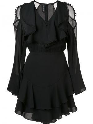 Ruffle front dress Yigal Azrouel. Цвет: чёрный