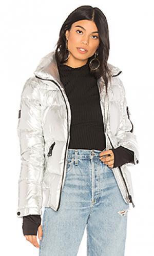 Дутая куртка SAM.. Цвет: металлический серебряный
