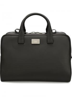 Дорожная сумка с двухсторонней молнией Valas. Цвет: чёрный