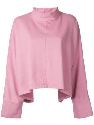 Толстовка мешковатого кроя Eckhaus Latta. Цвет: розовый и фиолетовый