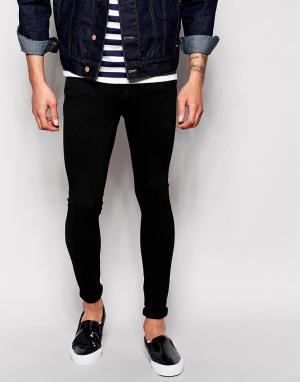 Dr Denim Черные обтягивающие джинсы Dixy. Цвет: черный
