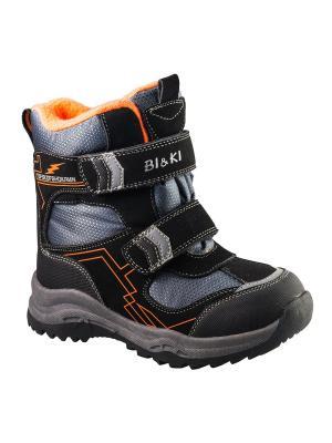 Ботинки BiKi. Цвет: черный, оранжевый