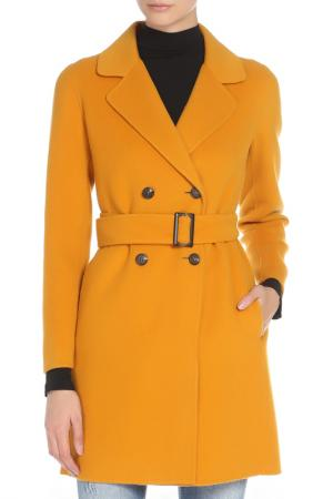 Пальто Marella. Цвет: горчичный
