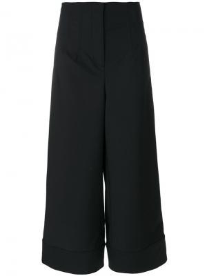 Укороченные широкие брюки 3.1 Phillip Lim. Цвет: чёрный