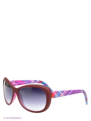 Солнцезащитные очки TOUCH. Цвет: бордовый