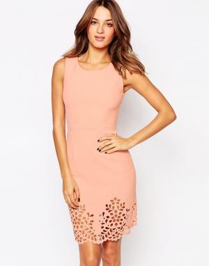 Little Black Dress Платье с ажурной кромкой Eva. Цвет: розовый