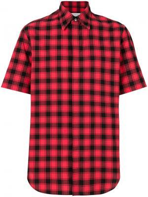 Клетчатая рубашка с короткими рукавами Maison Margiela. Цвет: красный