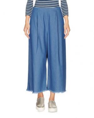 Джинсовые брюки-капри KENDALL + KYLIE. Цвет: синий
