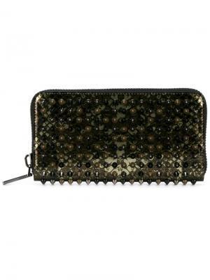 Panettone snake skin print wallet Christian Louboutin. Цвет: чёрный