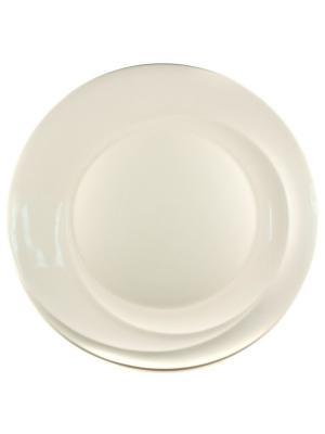 Блюдо круглое 30см. Спирит Quality Ceramic. Цвет: белый