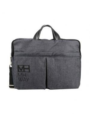 Деловые сумки MH WAY. Цвет: темно-синий
