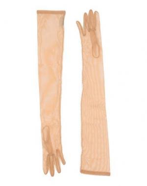 Перчатки DRIES VAN NOTEN. Цвет: песочный