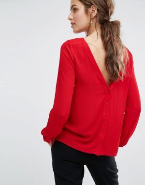 BA&SH Блузка с пуговицами на спине Eliet. Цвет: красный