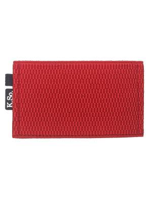 Мини кошелек кардхолдер K.So.Six K.So.. Цвет: красный