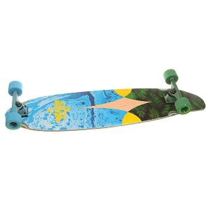 Лонгборд  Bio Longboard Blue/Yellow 9.5 x 38 (96.5 см) Dusters. Цвет: зеленый,голубой