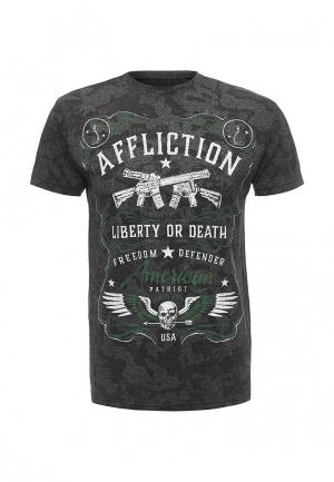 Футболка Affliction. Цвет: серый