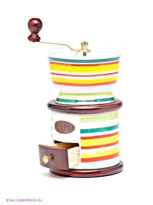 Кофемолка ручная Bekker. Цвет: бирюзовый, коричневый, желтый