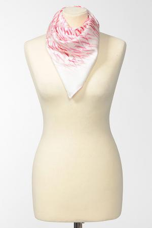 Платок Valentino. Цвет: белый, розовый