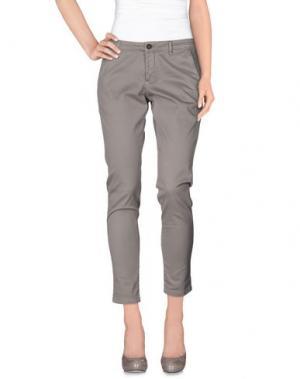 Повседневные брюки DERRIÉRE. Цвет: голубиный серый