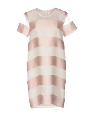 Короткое платье ANTONELLI. Цвет: светло-розовый