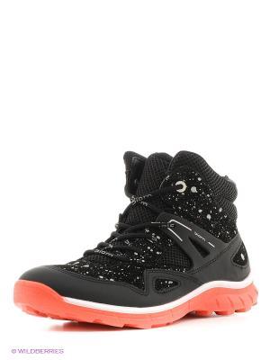 Ботинки ECCO. Цвет: черный, коралловый