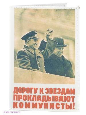 Обложка для автодокументов Mitya Veselkov. Цвет: белый, бежевый