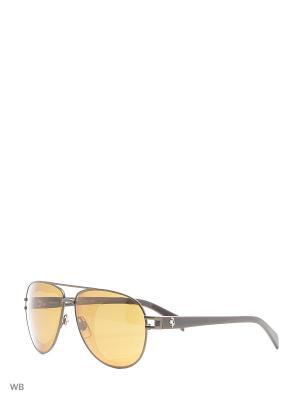Солнцезащитные очки FR 0086 37M FERRARI. Цвет: коричневый