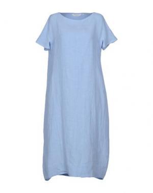 Платье длиной 3/4 GUGLIELMINOTTI. Цвет: небесно-голубой