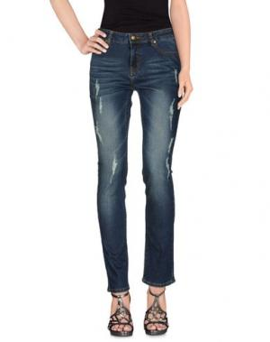Джинсовые брюки DUCK FARM. Цвет: синий