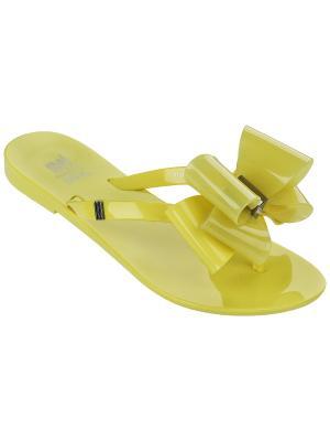 Шлепанцы Melissa. Цвет: желтый