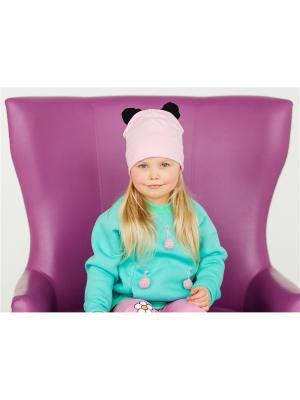 Шапочка с ушками Панда розовый Yuumi. Цвет: розовый