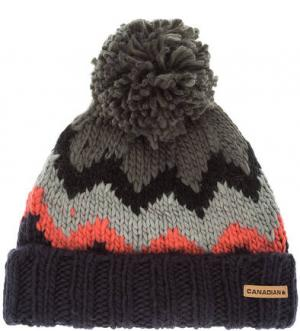 Трикотажная шапка с подкладкой CANADIAN. Цвет: серый
