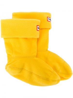 Носки с нашивкой логотипа Hunter. Цвет: жёлтый и оранжевый