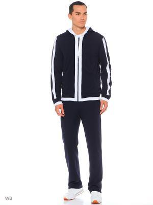 Спортивный костюм-куртка,брюки FORLIFE. Цвет: синий, белый