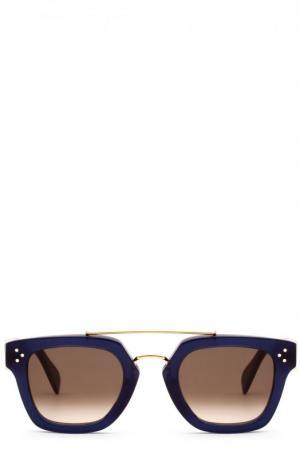 Солнцезащитные очки Céline Eyewear. Цвет: синий