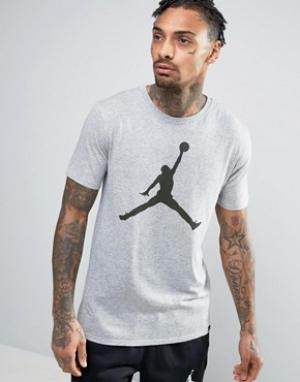Jordan Футболка Nike Iconic Jumpman 834473-063. Цвет: серый