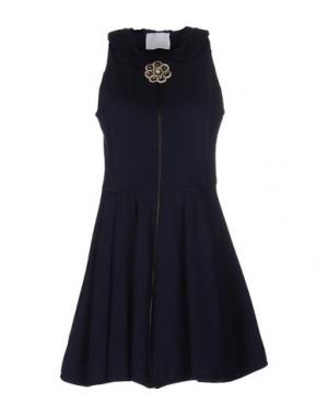 Короткое платье PRINCESSE METROPOLITAINE. Цвет: темно-синий