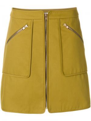 Короткая юбка на молнии Kenzo. Цвет: зелёный