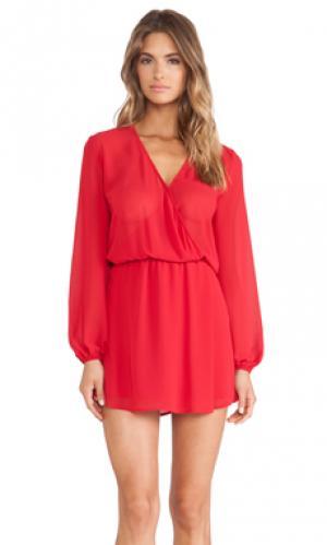 Платье халат Charles Henry. Цвет: красный