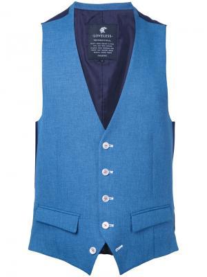 Куртка-бомбер  с принтом птиц Loveless. Цвет: синий