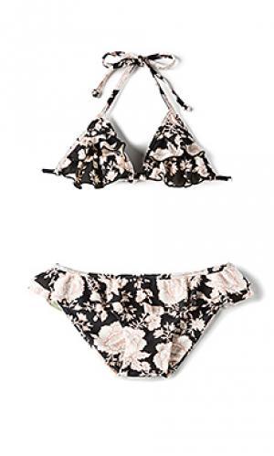 Комплект бикини hula Tori Praver Swimwear. Цвет: черный