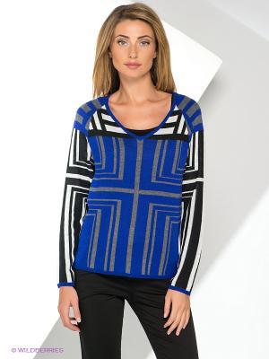 Пуловер Yuka. Цвет: серый, белый, черный, синий