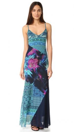 Платье без рукавов Fuzzi. Цвет: бирюзовый